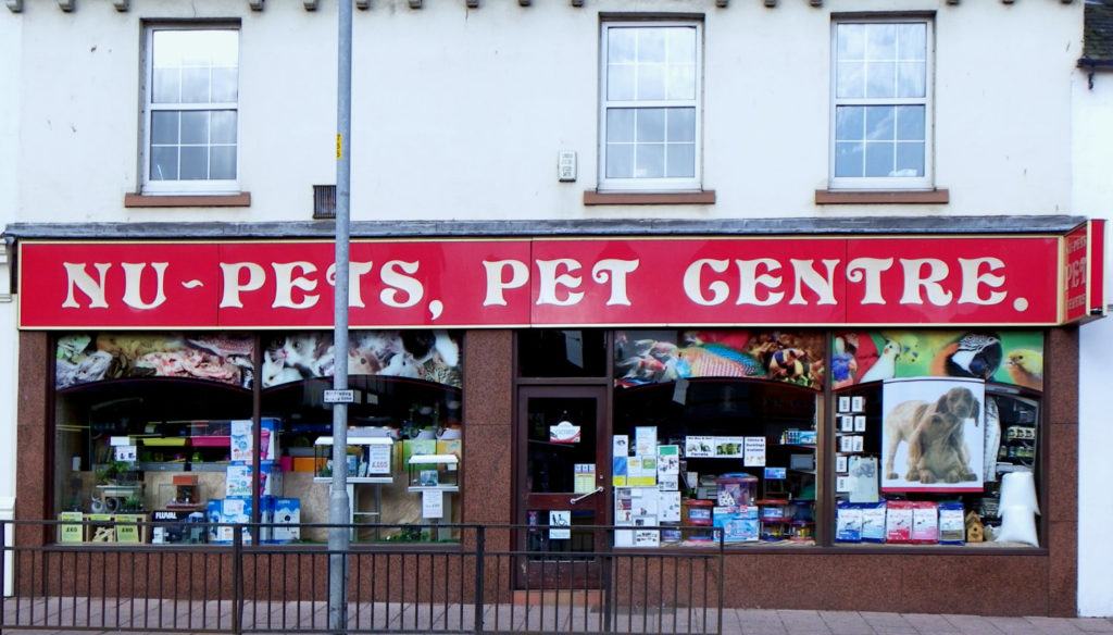 Nu-Pets Pet Centre Shop Front